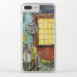 Rose Cottage Clear iPhone Case