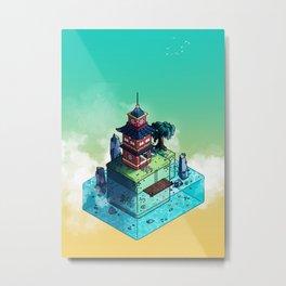 Lone Temple Metal Print