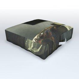 Stolen Art - The Concert by Johannes Vermeer Outdoor Floor Cushion