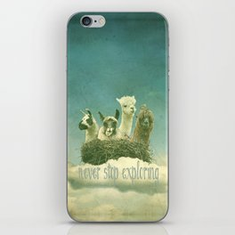 NEVER STOP EXPLORING THE CLOUDS iPhone Skin
