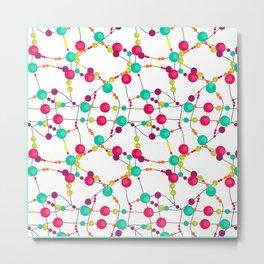 Multi-colored beads circles bright kids fun Metal Print