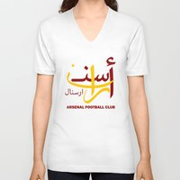 arsenal V-neck T-shirts featuring Arsenal by Sport_Designs