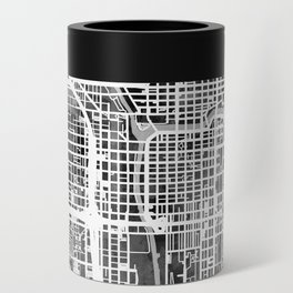 Chicago City Street Map Can Cooler