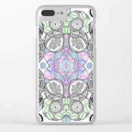 Multi Zentangle Zendoodle Zenart Design Clear iPhone Case