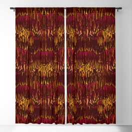 Magenta Leaves  Blackout Curtain