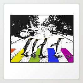 Penguin Pride Art Print