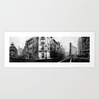 madrid Art Prints featuring Madrid by Jaume