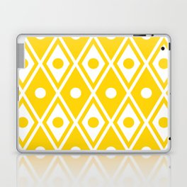 Harlequin Pattern Yellow Laptop & iPad Skin