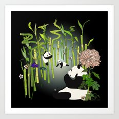 Panda's Playground - Dark Version Art Print