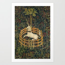 The Unicorn in Captivity (from the Unicorn Tapestries) 1495–1505 Art Print