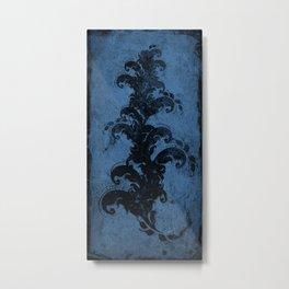 cropped blue Metal Print