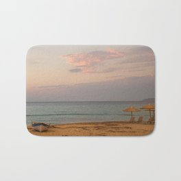 Sunset at the Beach in Greece Bath Mat