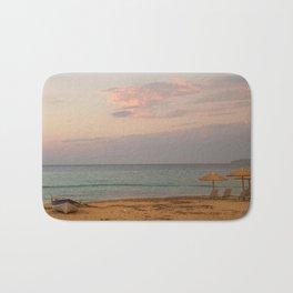 Sunset at the Beach in Greece Bath Mat