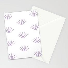 Lavender Evil Eye Pattern Stationery Cards