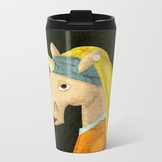 The Unicorn with the Pearl Earring Metal Travel Mug