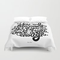 yolo Duvet Covers featuring Yolo by Rudi de Wet Studio