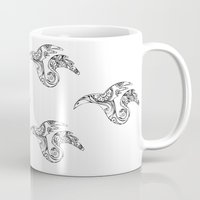 mother of dragons Mugs featuring dragons by AnastasiyaCemetery