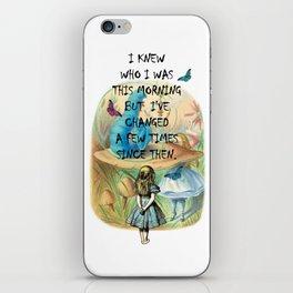 Alice In Wonderland Quote iPhone Skin
