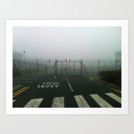 One way. Art Print