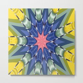 Coco No. 5 Pinwheel Metal Print
