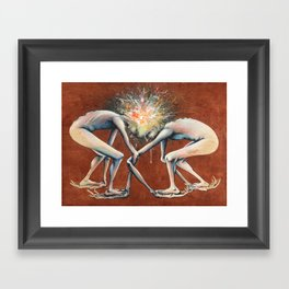 The Conjoined Collision Culmination Framed Art Print