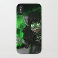 homestuck iPhone & iPod Cases featuring Homestuck: Grimbark Jade by EternalAshley225