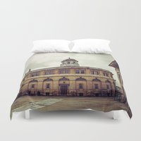 theater Duvet Covers featuring Oxford: Sheldonian Theater by Solar Designs