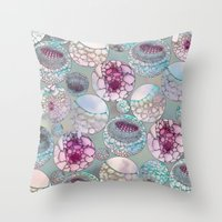 biology Throw Pillows featuring Cell Balls by Klara Acel
