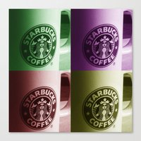 starbucks Canvas Prints featuring Starbucks  by Chris Thaxter
