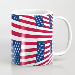 flag of the usa – tribute to Vasarely Coffee Mug