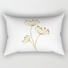 Golden Trio on White Rectangular Pillow