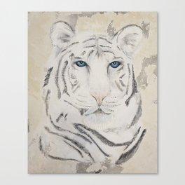 Original Art - White Tiger Original Painting (highly textured)  #white Canvas Print