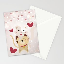Cats Love Stationery Cards