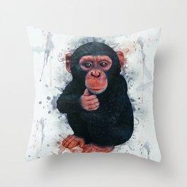 Chimpanzee Art Throw Pillow