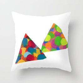 Abstract Modern Painting Shape - dialogue then peace Throw Pillow