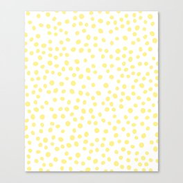Yellow doodle dots Canvas Print