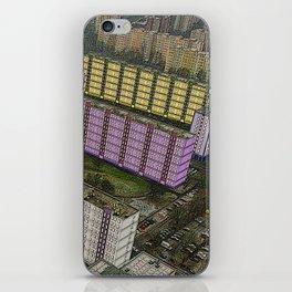 Colorful Block Buildings - Bekasmegyer - Budapest iPhone Skin