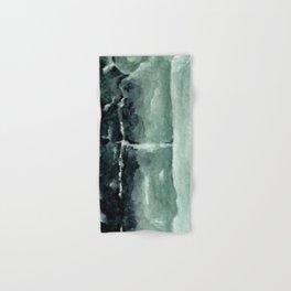 Green Calcite Crystal Watercolor Hand & Bath Towel