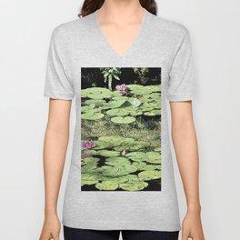 Floating Lily Pads Unisex V-Neck