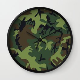 Military camouflage,soldiers pattern decor. Wall Clock