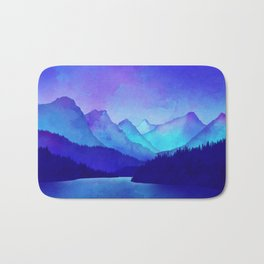 Cerulean Blue Mountains Bath Mat