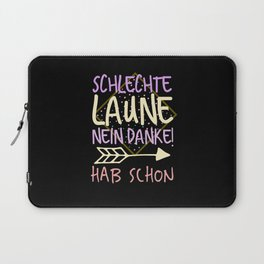Mood Funny Saying Laptop Sleeve