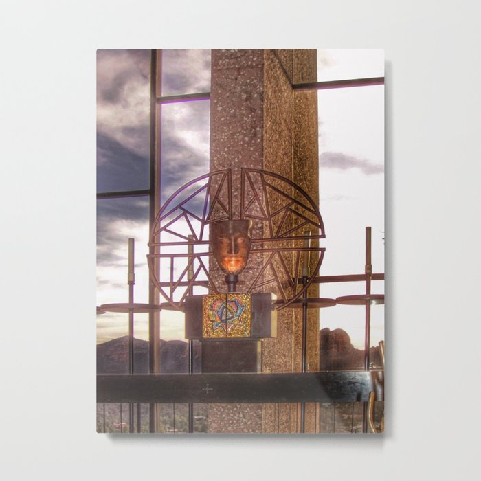 Alter Inside Chapel of the Holy Cross Metal Print