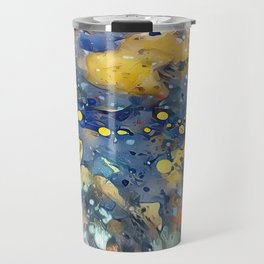 When Planets Align watercolor abstract by CheyAnne Sexton Travel Mug