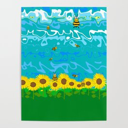 Nature Summer Sunflower Poster