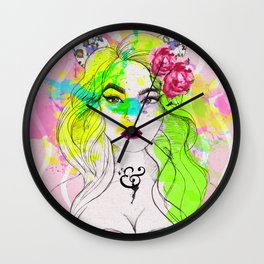 Mademoiselle Cat Wall Clock