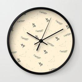 Capricorn Pattern - Beige Wall Clock