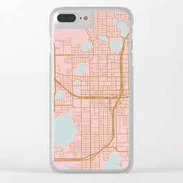 Orlando map, Florida Clear iPhone Case