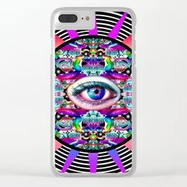 Vicious Circle Clear iPhone Case