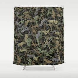 Weapon camouflage Shower Curtain